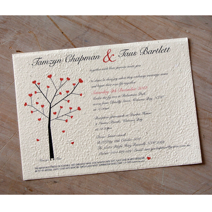 Paper For Wedding Invitation: Seeded Paper Wedding Invitations