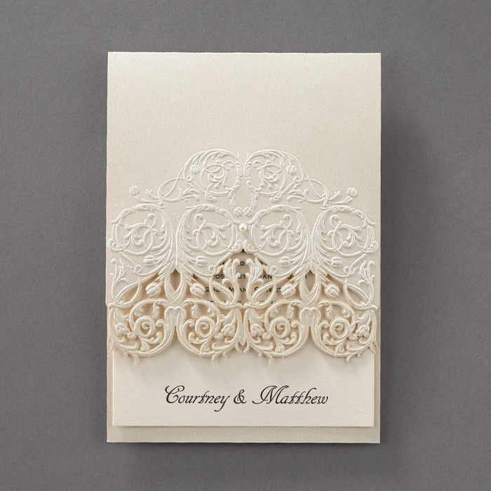 Wedding Invitations With Lace: Elegant Lace Wedding Invitations