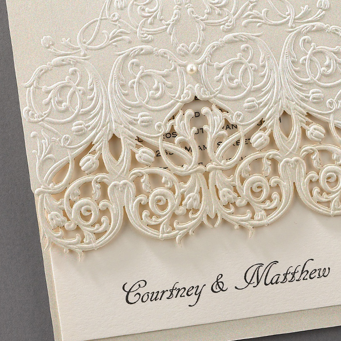 elegant vintage wedding invites