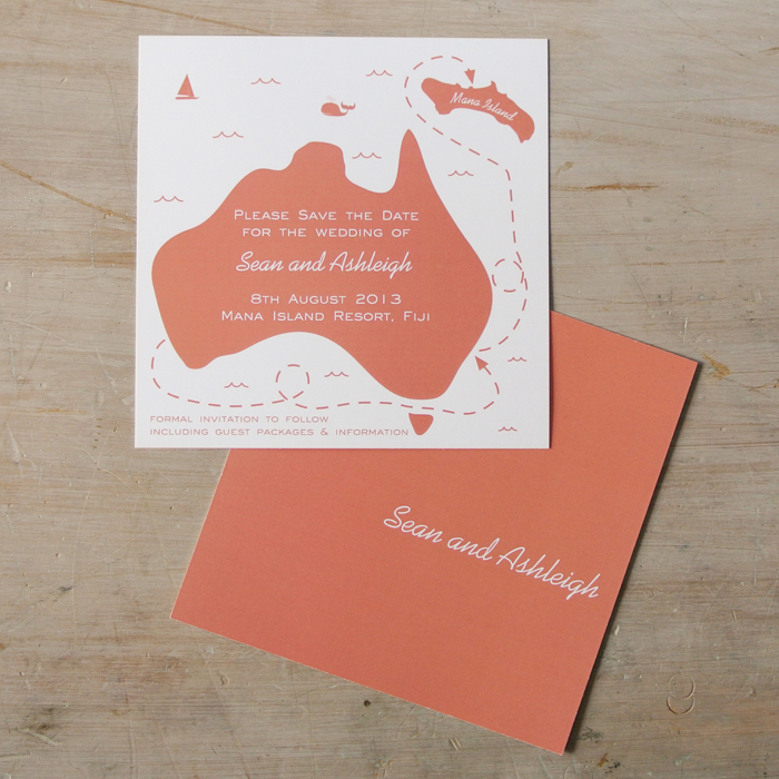 Save the date card online in Australia