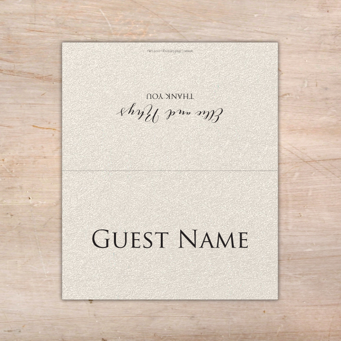 Personalised Wedding Place Cards - Assorted Colour Options ...