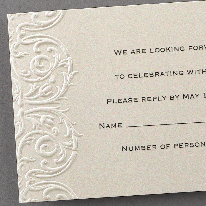 wedding stationery elegant embossed lace invitations
