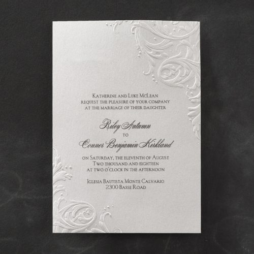 Embossed wedding stationery sydney