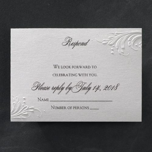 Elegant Romantic wedding invitations