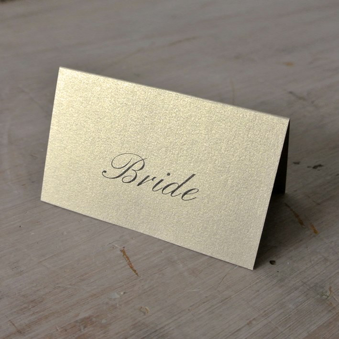 Personalised wedding place cards assorted colour options for Place cards for wedding