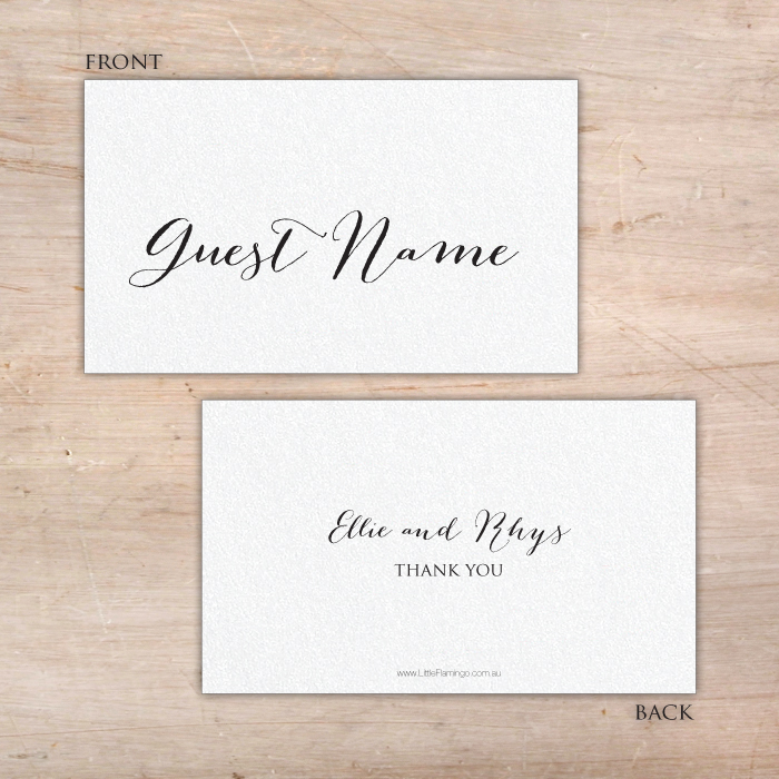 personalised place cards - Printed Place Cards