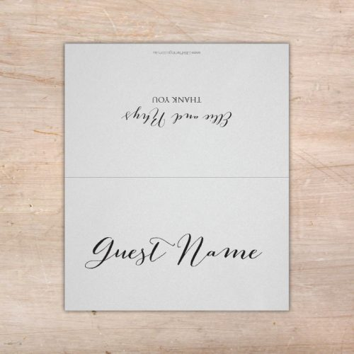 fast silver place cards