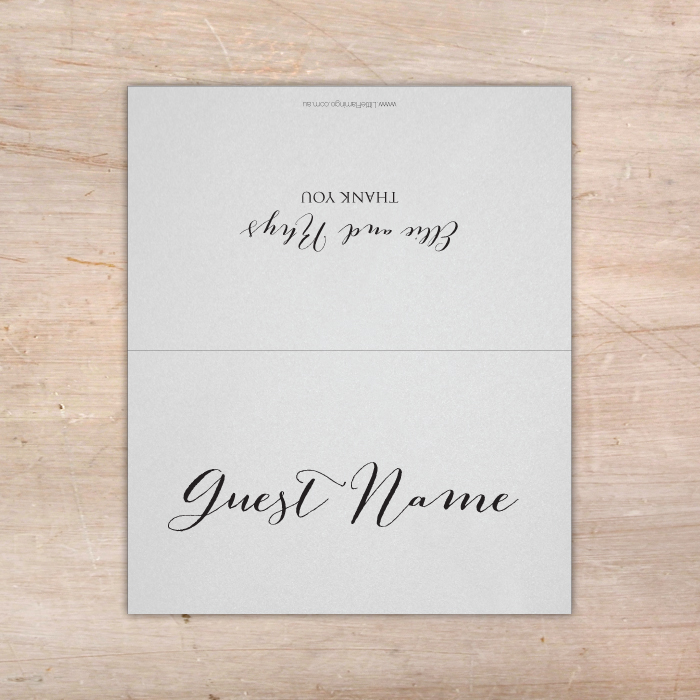 Budget Wedding Place Cards Personalised White Placecards Fast Silver