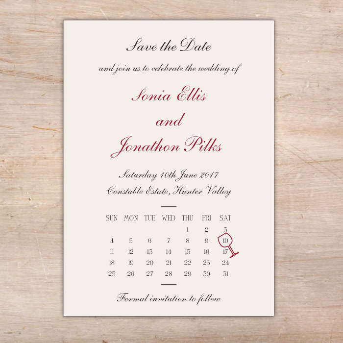 Save The Date Calendar Magnet Available Little Flamingo
