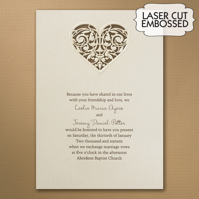 Heart Images For Wedding Invitations: Laser Cut Heart Wedding Invitations