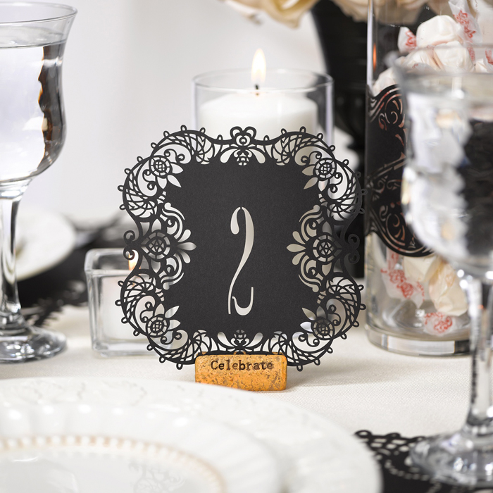 Unique Table Numbers For Wedding Reception Ideas: Laser Cut Wedding Table Numbers