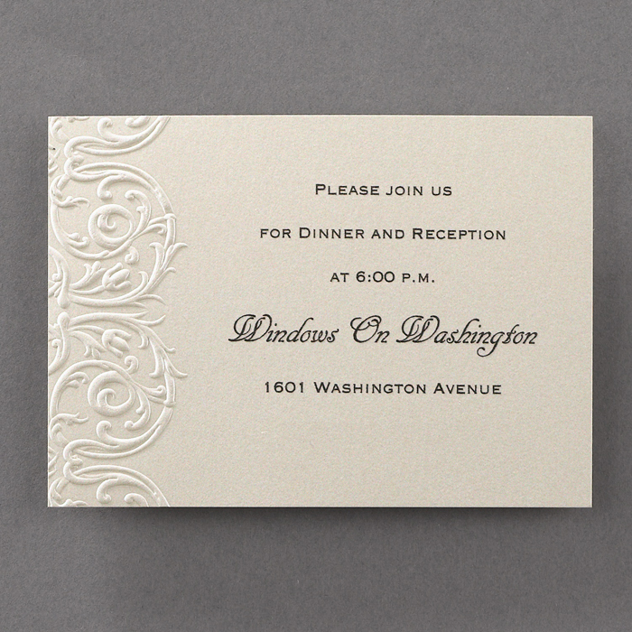 elegant lace wedding invitations additional card/s - little flamingo, Wedding invitations