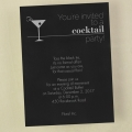 Modern cocktail party invitation