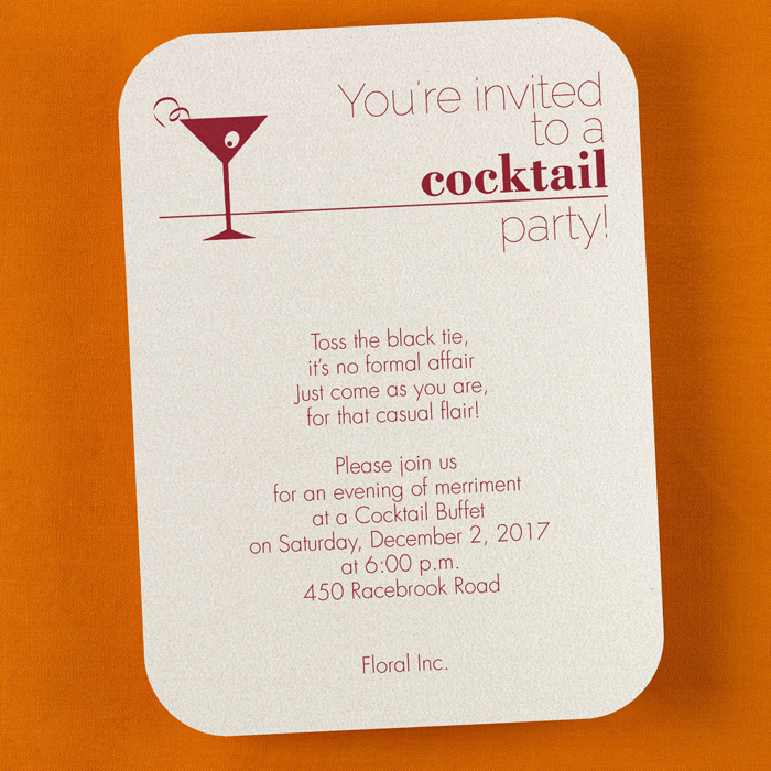 corporate cocktail party invitation