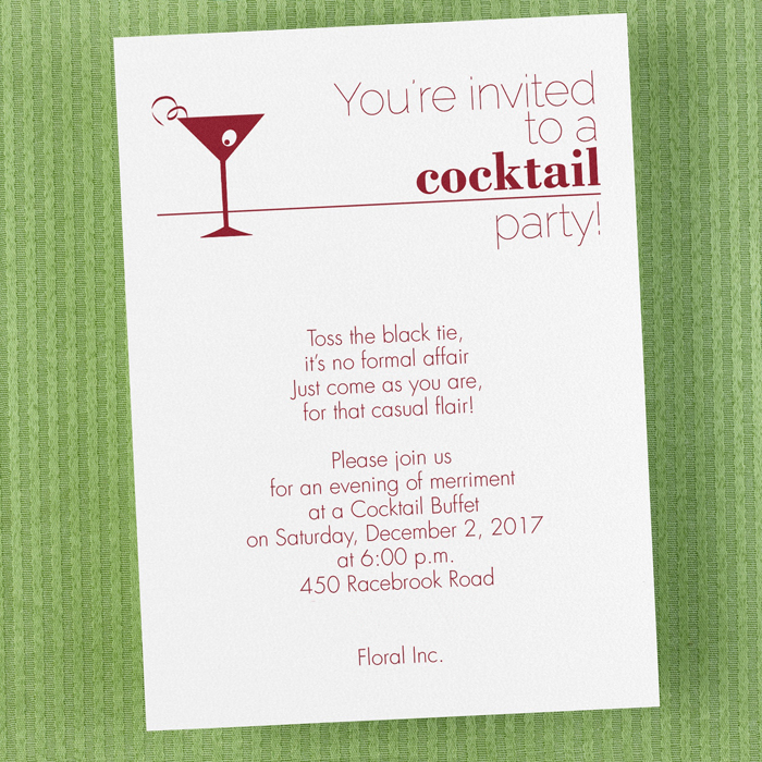 u0026 39 your invited to a cocktail party u0026 39  invitation