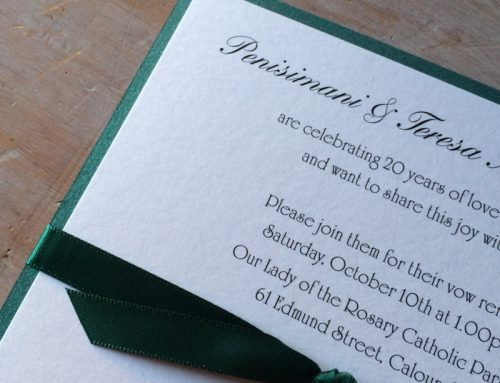 Emerald Green Wedding Invitations and Anniversary