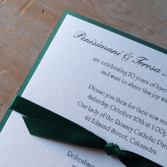 Emerald Green Wedding Invitations And Anniversary Little