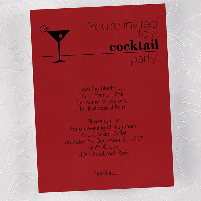 modern cocktail party invitation - Cocktail Party Invitation