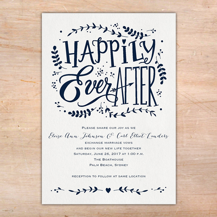 Whimsical Fairytale Wedding Invitations