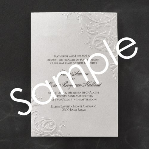 embossed flourish invitations
