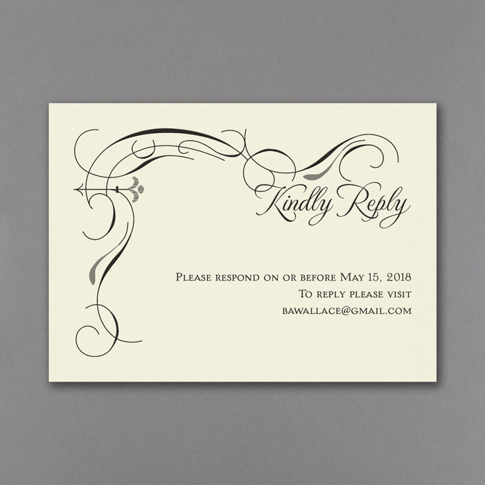 Secret Message Wedding Invitations RSVP & Envelope - Little Flamingo
