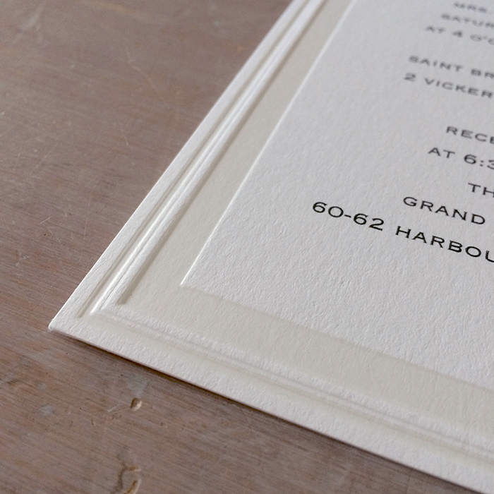 Embossed Classic Wedding Invitations - White or Cream - Little ...