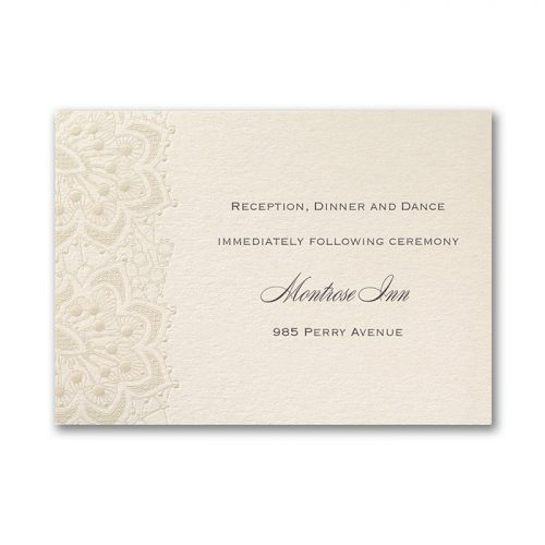 Embossed wedding invites