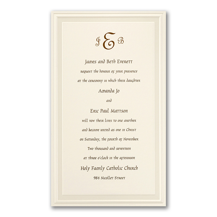 Embossed Classic Wedding Invitations White or Cream Little – Simple Classic Wedding Invitations