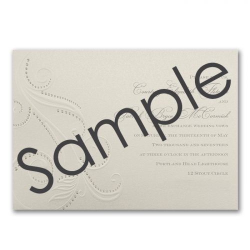 simple cream wedding invitations