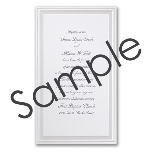 white wedding invitation ideas