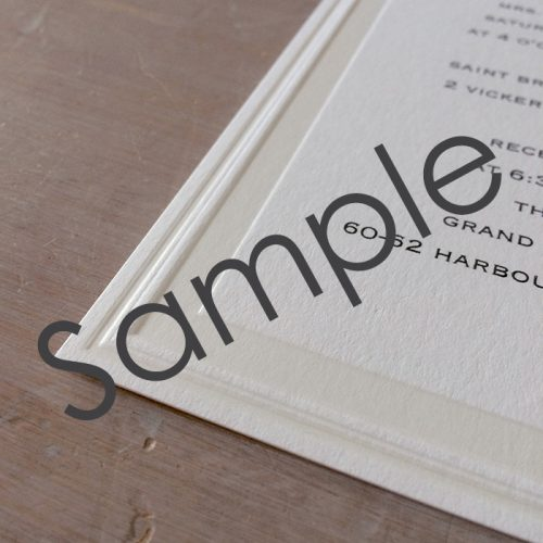 textured wedding invitations