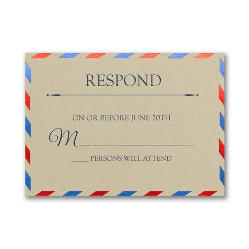 air mail wedding ideas