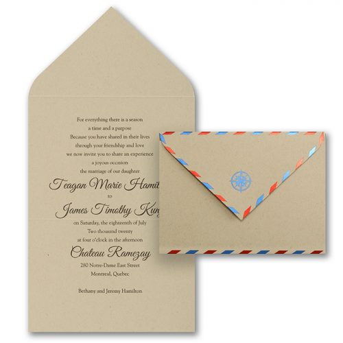 air mail wedding invites