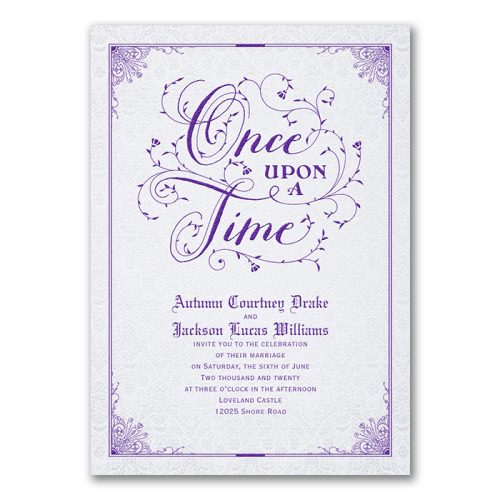 Elegant Book Wedding Invitations