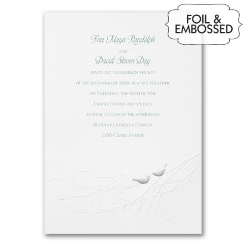 Love Bird Wedding Invitations