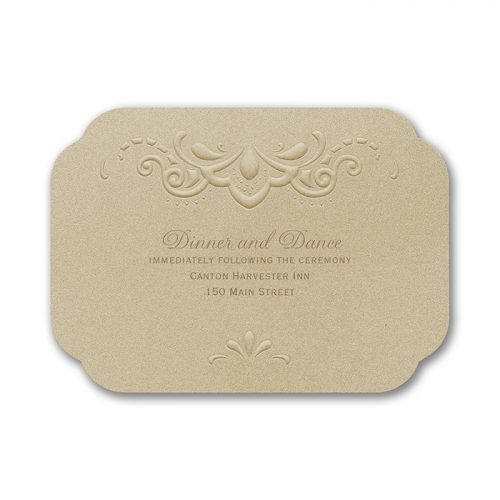 embossed elegant invitations