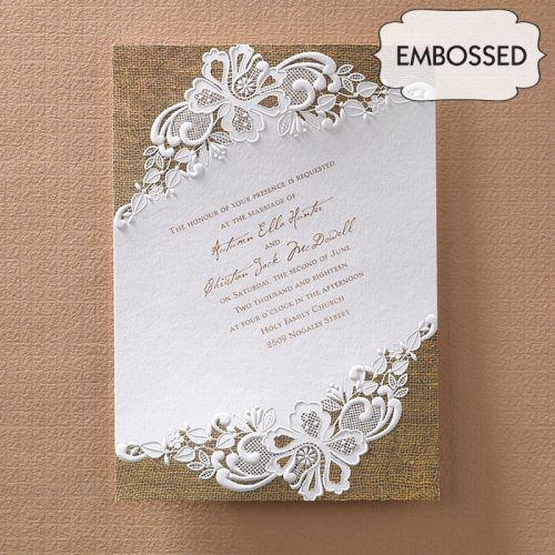 romantic country wedding invites