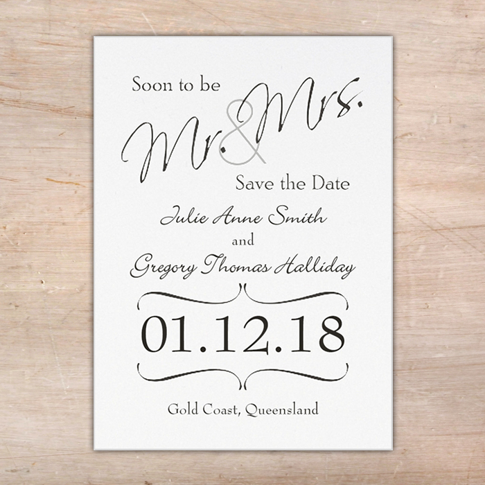 mr and mrs save the date cards little flamingo