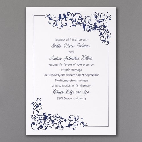 little love bird wedding invitation