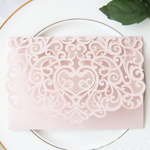 Light Pink Wedding Pocket