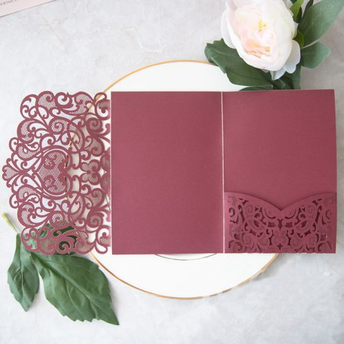 cheap pocket wedding invites