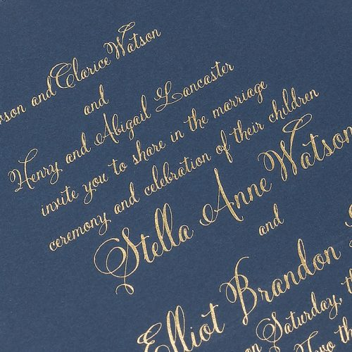 Foil Printed Gold Wedding Invitations