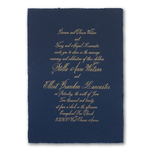 Deckle Edge Invitations
