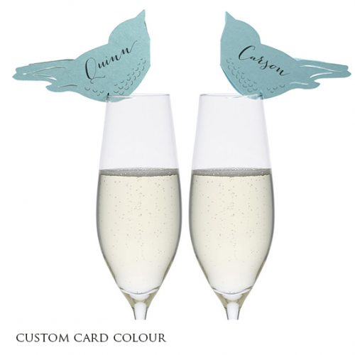 teal wedding place cards