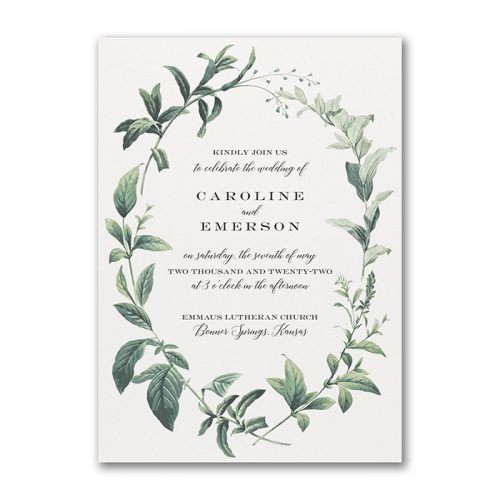 Natural Foliage Wedding Invitations