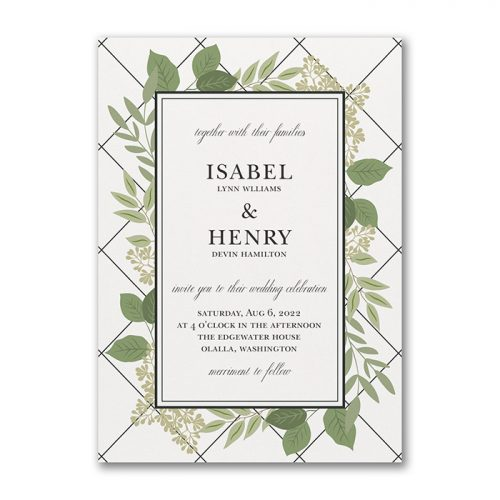 Modern Country Wedding Invites