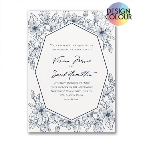 Modern Garden Wedding Invitation
