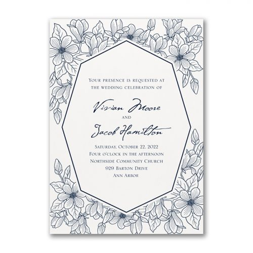 Floral Garden Wedding Invites