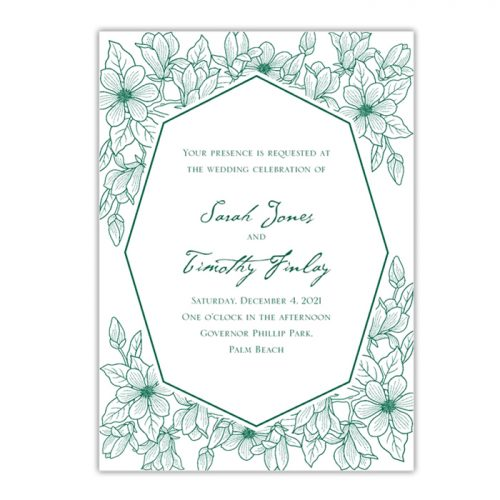 Green Garden Wedding Invites