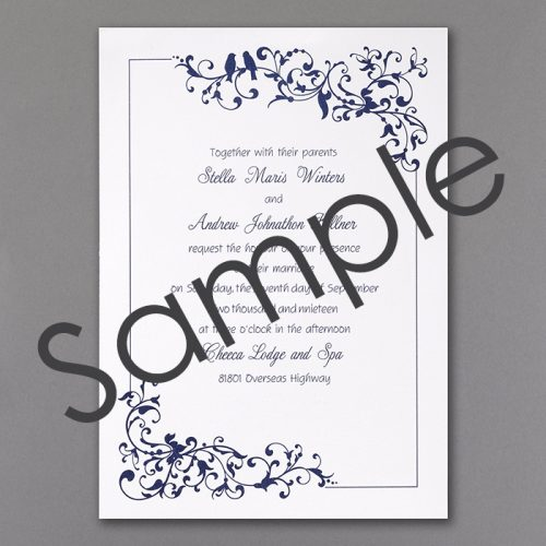 love bird wedding invites
